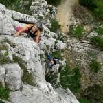 Exponiertes Klettern