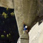 schwierige Boulderpassage